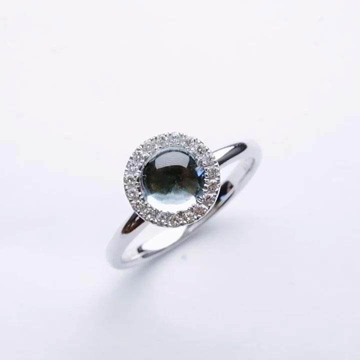 K18WGブルートパーズダイヤリング の画像