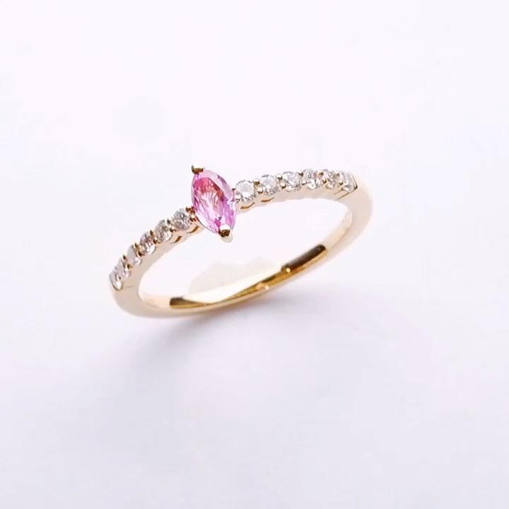 ピンクサファイアダイヤリングの画像