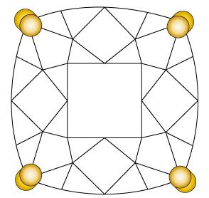 婚約指輪のダイヤモンドを留める爪①のイメージ