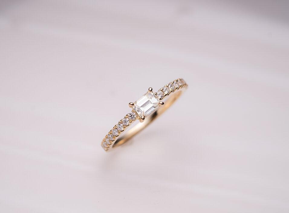 婚約指輪につけるダイヤの留め方例②