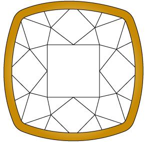 婚約指輪のダイヤモンドを留める爪④のイメージ