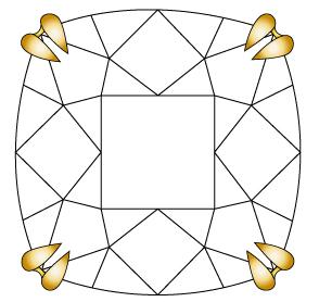 婚約指輪のダイヤモンドを留める爪②のイメージ